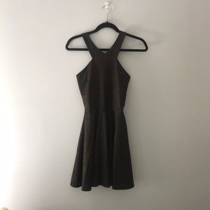 Black with Gold hint Dress